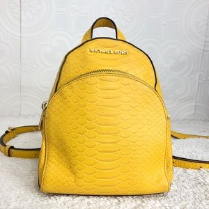 🌸OFFERS?🌸Michael Kors Leather Emboss Yellow 🎒